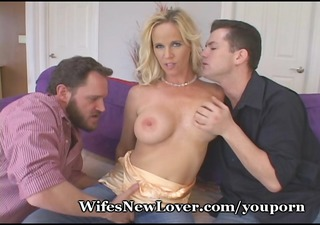 hot golden-haired acquires nasty with new