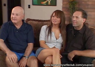 hubby watched wife screwed by two hard dicks