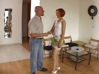 amateur excellent redhead hawt wife talking with