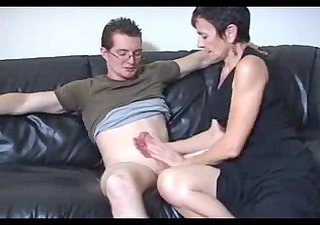 shorthaired granny loves large cock