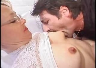 prim and proper granny likes cock
