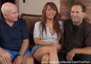 asian wife screwed, hubby approves!