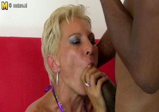 hot white mama in an interracial fuckfest