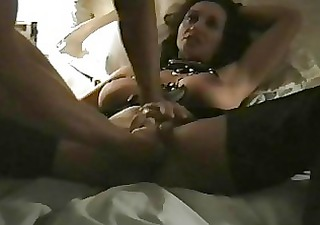 perverted darksome haired milf with large tits